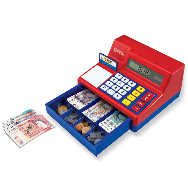 Pretend & Play Calculator Cash Register with Play Money - by Learning Resources - LSP2629-UK