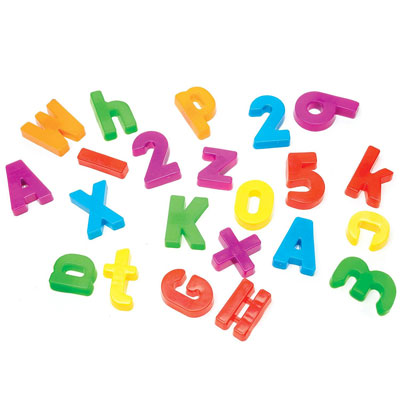 Magnetic Alphabet & Numbers - Set of 99 Pieces - by Educational Insights - EI-1780