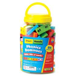Phonics & Word Building Dominoes: Short Vowels - by Educational Insights