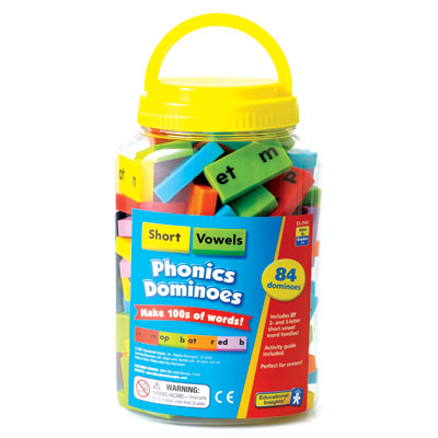 Phonics & Word Building Dominoes: Short Vowels - by Educational Insights - EI-2940