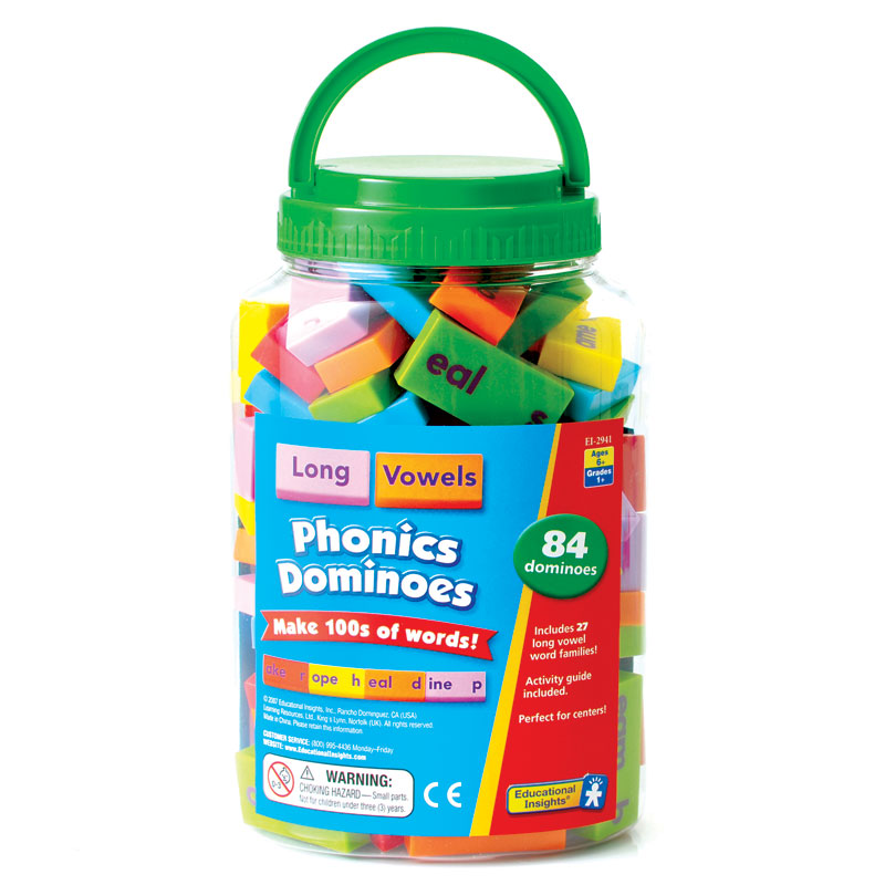 Phonics & Word Building Dominoes: Long Vowels - by Educational Insights - EI-2941