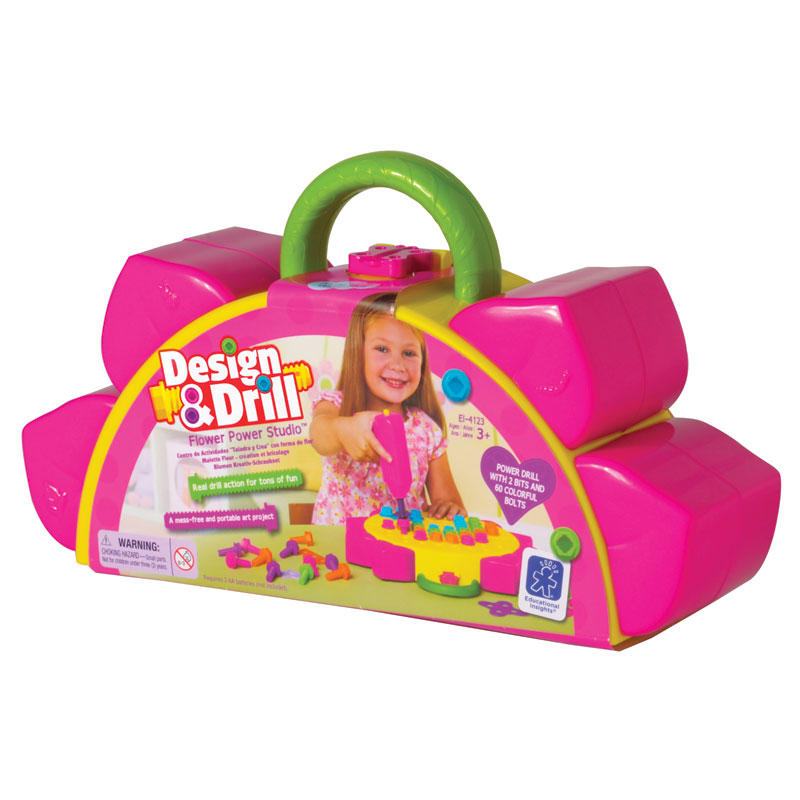 Design & Drill Flower Power Studio - by Educational Insights - EI-4123