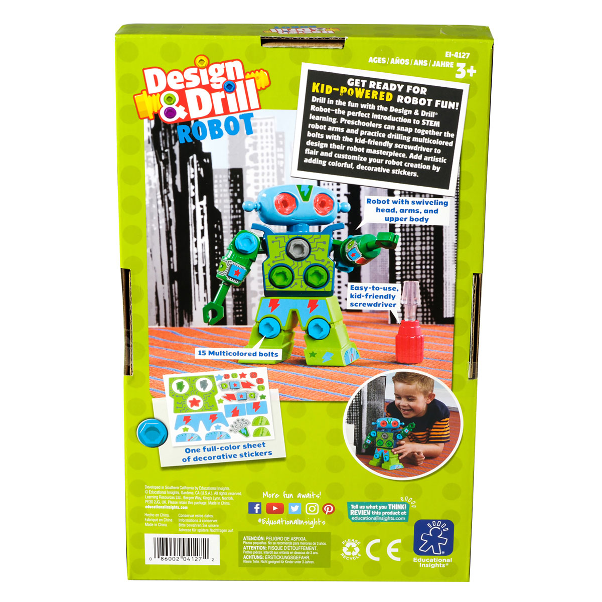 Design & Drill Robot - by Educational Insights EI-4127 ...