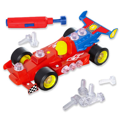 *BOX DAMAGED* Design & Drill Power Play Vehicles Race Car - by Educational Insights - EI-4131/D
