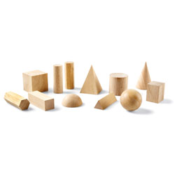Wooden Geometric Solids - Set of 12 - by Learning Resources