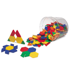 0.5cm Plastic Pattern Blocks - Set of 250 - by Learning Resources