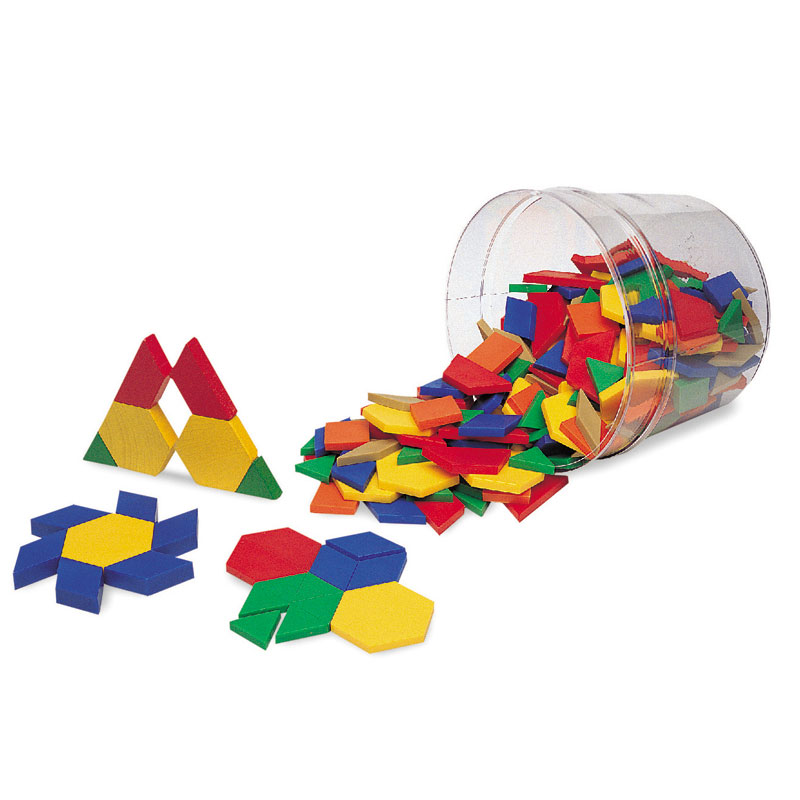0.5cm Plastic Pattern Blocks - Set of 250 - by Learning Resources - LER0134