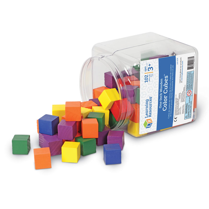 Wooden Colour Cubes - Set of 102 - by Learning Resources - LER0136