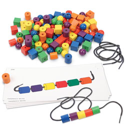 Beads & Pattern Card Set - Set of 130 Pieces - by Learning Resources
