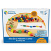 Beads & Pattern Card Set - Set of 130 Pieces - by Learning Resources - LER0139