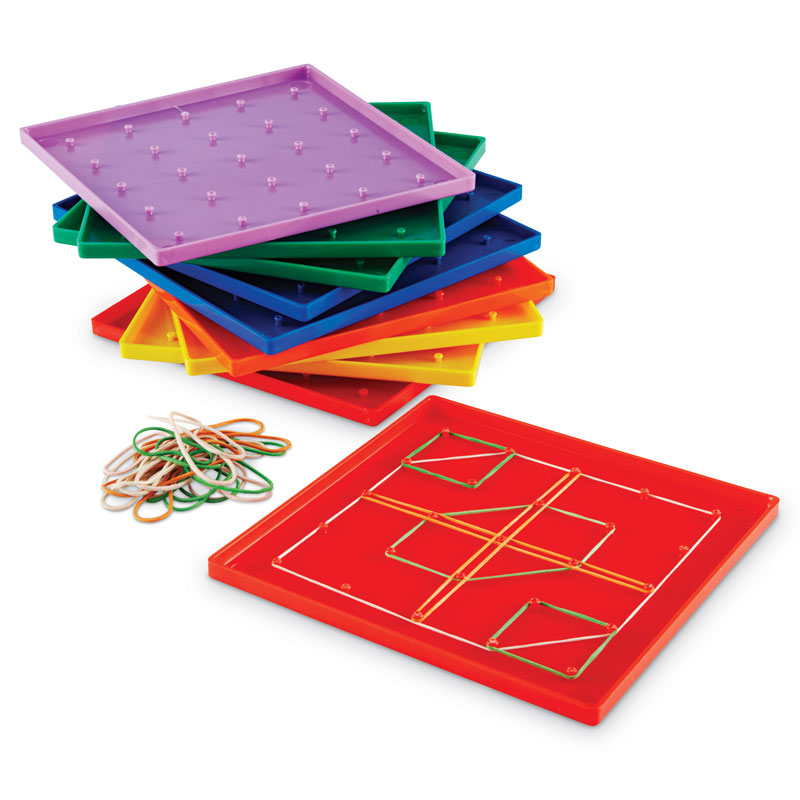 Coloured Geoboards - Set of 10 - by Learning Resources - LER0153