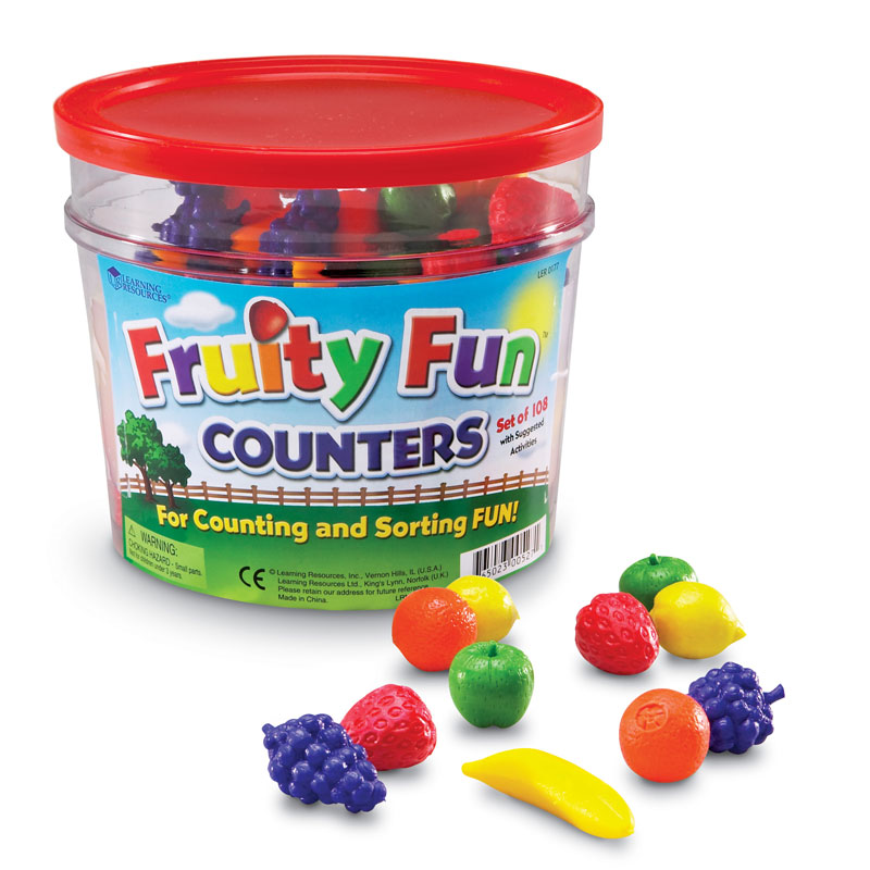 Fruity Fun Counters - Set of 108 - by Learning Resources - LER0177