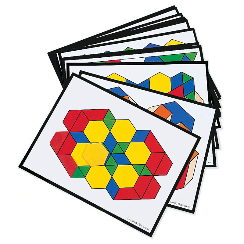 Pattern Block Additional Design Cards - Set of 36 - by Learning Resources - LER0264