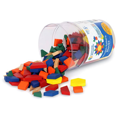 Wooden Pattern Blocks - Set of 250 - by Learning Resources - LER0334