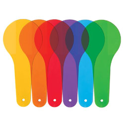 Primary Science Colour Paddles - Set of 18 (in 6 Colours) - by Learning Resources