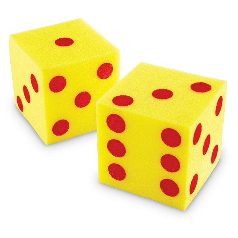 Giant Soft Dot Cube Dice - Set of 2 - by Learning Resources - LER0411