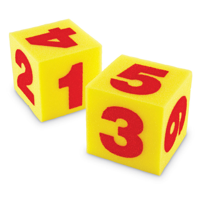Giant Soft Number Cube Dice - Set of 2 - by Learning Resources - LER0412