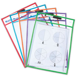 Wipe Clean Pockets - Set of 5 - by Learning Resources