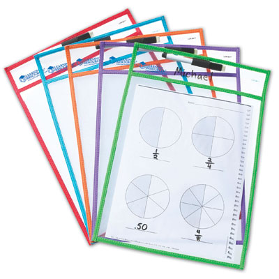 Wipe Clean Pockets - Set of 5 - by Learning Resources - LER0477