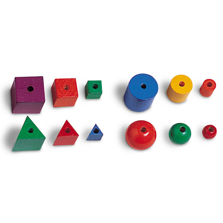 Wooden Attribute Beads - Set of 144 - by Learning Resources - LER0560