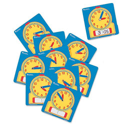Wipe Clean Additional Student Clocks  (11cm) - Set of 10 - by Learning Resources