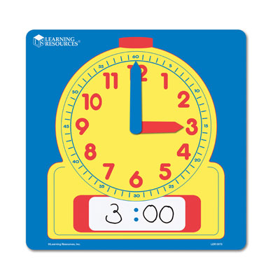 Wipe Clean Demonstration Clock (30cm) - by Learning Resources - LER0573