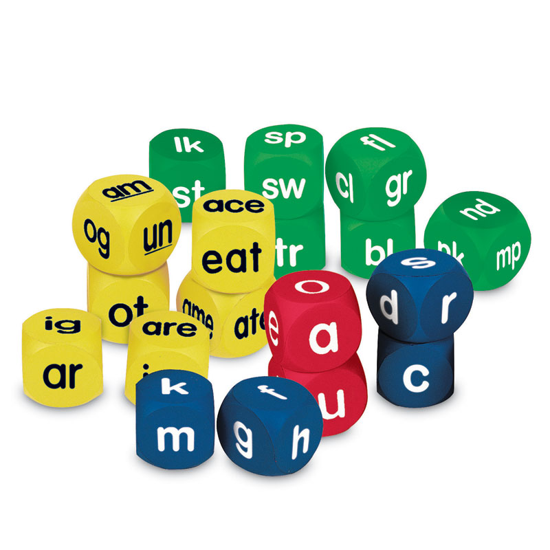 Soft Foam Phonics Cubes Set - Set of 18 - by Learning Resources - LER0589