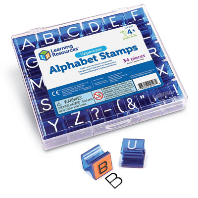 Uppercase Alphabet Stamps - (stamp pad not included) - by Learning Resources - LER0597