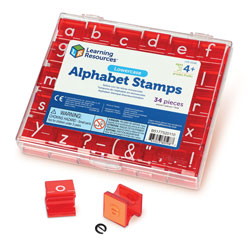 Lowercase Alphabet Stamps - (stamp pad not included) - by Learning Resources