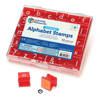 Lowercase Alphabet Stamps - (stamp pad not included) - by Learning Resources - LER0598