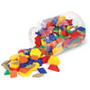 1cm Plastic Pattern Blocks - Set of 250 - by Learning Resources - LER0632