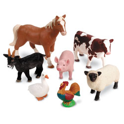 Jumbo Farm Animals - Set of 7 - by Learning Resources