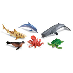 Jumbo Ocean Animals - Set of 6 - by Learning Resources