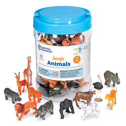 Jungle Animal Counters - Set of 60 - by Learning Resources