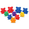 Three Bear Family Counters in Six Colours - Set of 96 - by Learning Resources - LER0744