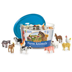 *Box Damaged* Farm Animal Counters - Set of 60 - by Learning Resources
