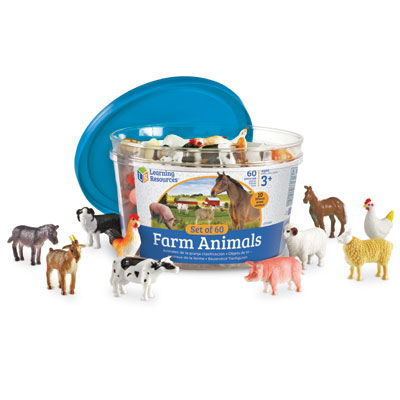 Farm Animal Counters - Set of 60 - by Learning Resources - LER0810