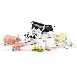 Jumbo Farm Animals: Mommas and Babies - Set of 8 - by Learning Resources