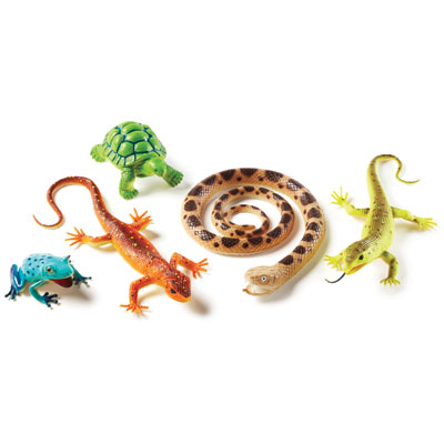 Jumbo Reptiles & Amphibians - Set of 5 - by Learning Resources - LER0838