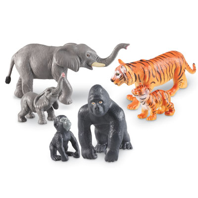 Jumbo Jungle Animals: Mommas and Babies - Set of 6 - by Learning Resources - LER0839