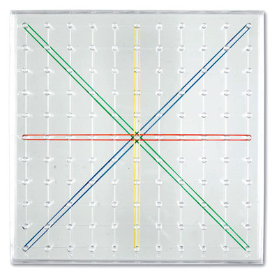 Transparent Geoboard (Single) - by Learning Resources - LER0917
