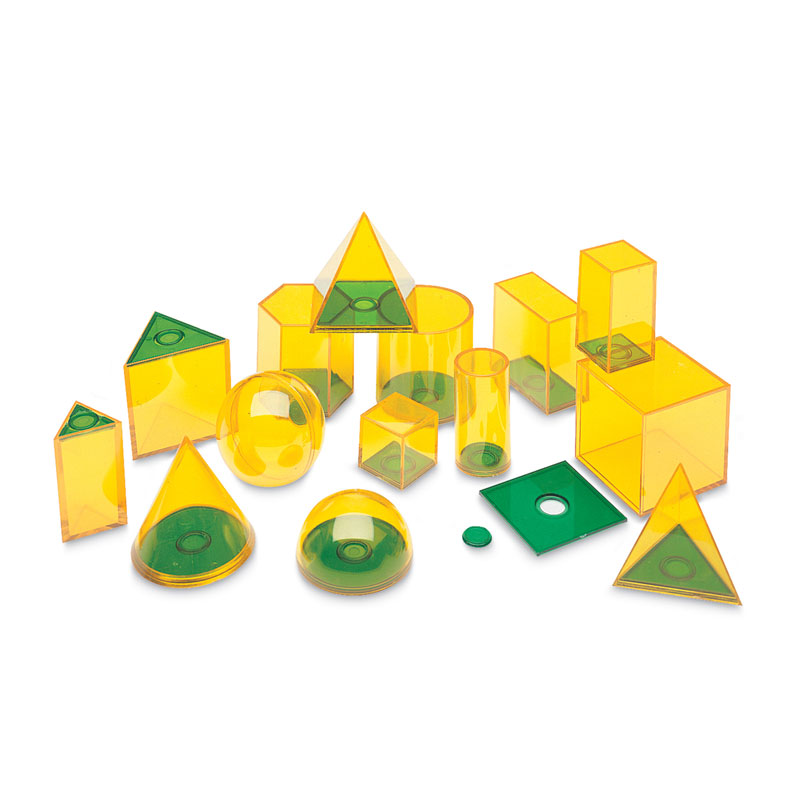 Relational GeoSolids - Set of 14 - by Learning Resources - LER0918