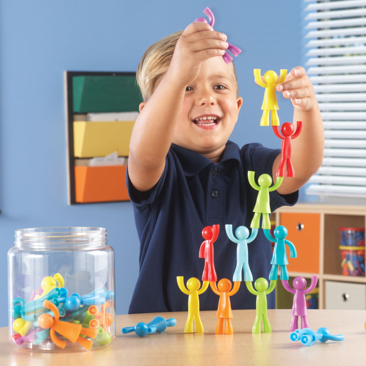 Learning Resources All About Me Buddy Builders Kids Stacking Play Activity