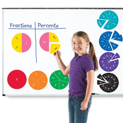 Magnetic Rainbow Fraction Double Sided Circles - by Learning Resources - LER1616