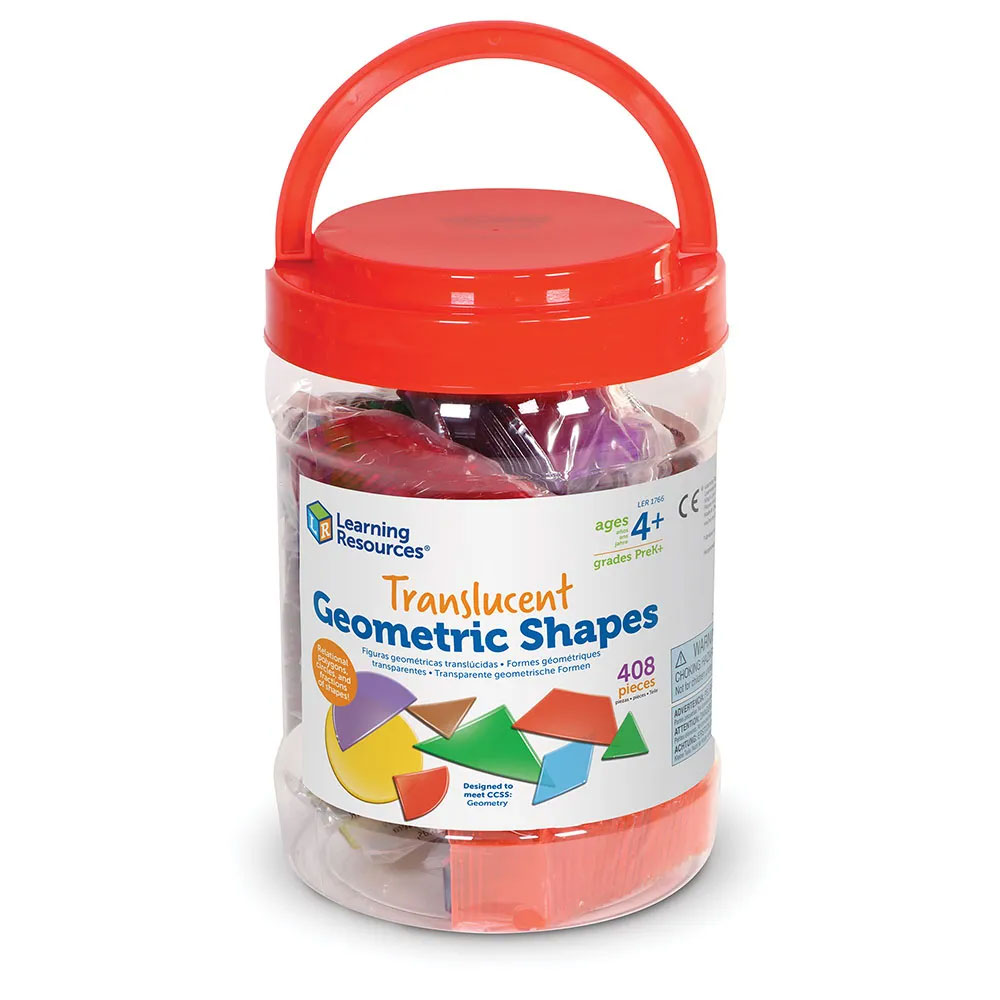 Translucent Geometric Shapes - Set of 408 - by Learning