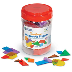 Translucent Geometric Shapes - Set of 408 - by Learning Resources