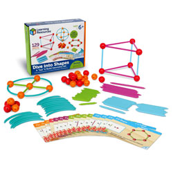 "Dive into Shapes! A ""Sea"" and Build Geometry Set - Set of 129 Pieces - by Learning Resources"