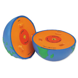Soft Foam Cross-Section Earth Model - by Learning Resources