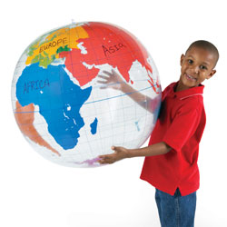 Wipe Clean Giant Inflatable Labelling Globe - by Learning Resources