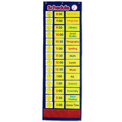 Daily Schedule Pocket Chart - by Learning Resources